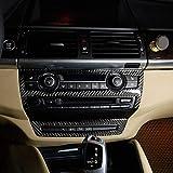 DIYUCAR Adhesivo de fibra de carbono real para interior de coche, ajuste de volumen, para X5 E70 X6 E71 2008-2013 accesorios