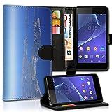 wicostar Book Style Alcatel One Touch Go Play 7048X Premium PU-Leder Tasche Flip Brieftasche Handy Hülle Kartenfächer mit Standfunktion für Alcatel One Touch Go Play 7048X - Design Flip MVC113