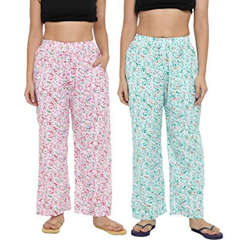 CIERGE Women's Cotton Printed Pyjama/Track Pant Lower (Multicolour; Free Size)...