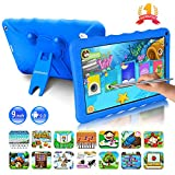 Tablette Enfants 9.0 Pouces Android 9.0 Pie Certifié Google GMS 3Go RAM 32Go/128Go ROM Tablette Tactile 1.5Ghz Quad Core OTG WiFi 6000mAh Tablet PC Google Play Netflix Youtube Jeux Éducatifs(Bleu)