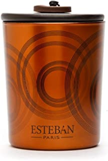 Esteban Paris - Ebene et Cuir Ebony Leather Scented Decorative Candle 170g