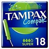 Tampax Compak Super Tampones con Aplicador - 18 Unidades