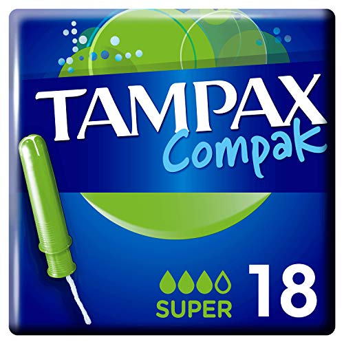 Tampax Compak Super Tampons With Applicator X 18, Leak Protection And Discretion, Feel Clean