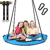 Trekassy 660lb Saucer Tree Swing for Kids Adults 40 Inch Waterproof Frame , 2 Tree Hanging Straps