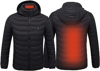 JANEFLY USB-elektrisk uppvärmd jacka, män tvättbar uppvärmd väst med 3 temperatur, varm vintergilet för kalla utomhusaktiv...