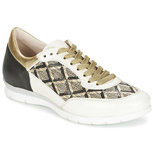 Mjus Force Sneakers Dames Zwart/Wit/Goud - 39 - Lage Sneakers Shoes