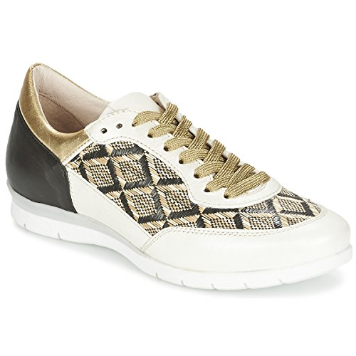 MJUS FORCE Sneakers dames Zwart/Wit/Goud Lage sneakers