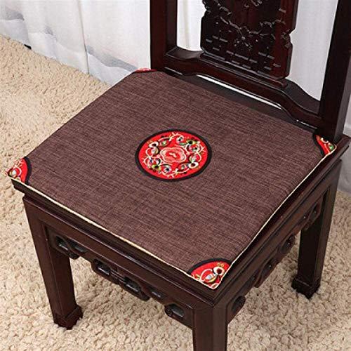 Cojín de silla Cojines para sillas Cojines de asiento Cojines cómodos Almohadas de lino Inicio...