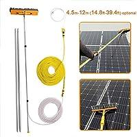 ZRABCD 屋外の清掃用具4.5-12Mの窓の棒、太陽光発電のパネルツール、トラックの伸縮性のあるクリーナー窓の洗濯、多目的水のスプレーブラシ,9M / 29.5フィート