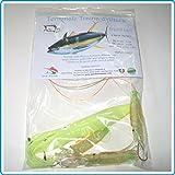 Piranha Fishing Line Tope de arrastre de 24 cm para yako, flúor, pesca atún y pez espada Marlin