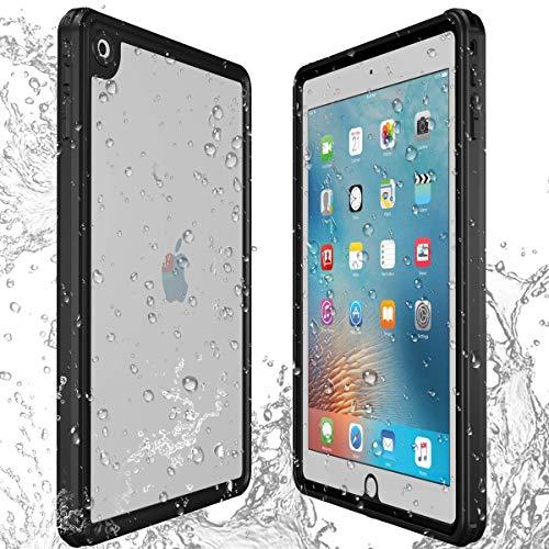 AICase Hülle für iPad 9.7 2018/2017 wasserdichte Hülle,360 Rundum Schutz Transparent Schutzhülle,wasserdicht, schockresistent, mit voller Touchscreen Funktion inkl. Touch ID