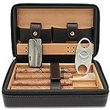 CiTree Cigar Humidor, Cigar Case, Cedar Wood Travel Portable Leather Cigar...