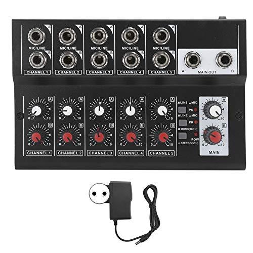 minifinker Mezclador de Audio estéreo Mezclador de Audio 100‑240V, Adecuado para Karaoke en casa(Transl)