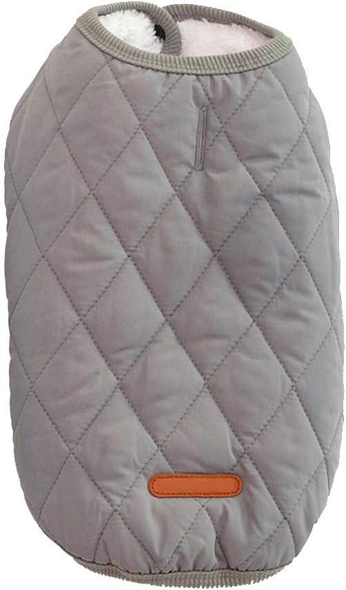 TEHAUX Nashville-Davidson Mall Diamond Lattice Pet Dog Winter Plush Warm Pup Button Rapid rise Coat