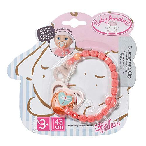 Baby Annabell Schnuller mit Clip, Pink