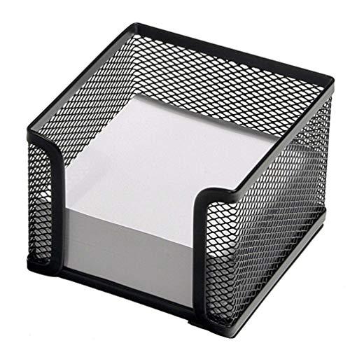 NUOBESTY - Organizador de malla para almacenamiento de escritorio, color negro