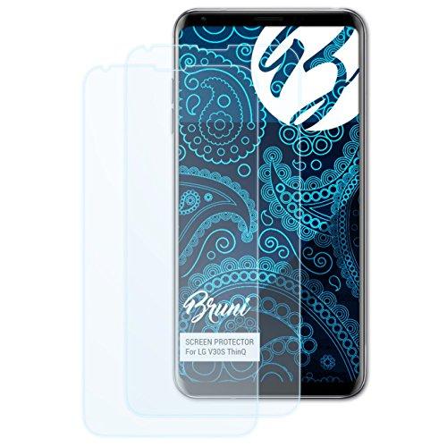 Bruni Schutzfolie kompatibel mit LG V30S ThinQ Folie, glasklare Bildschirmschutzfolie (2X)