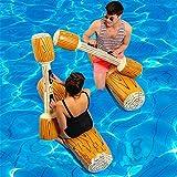 Piscina Flotante para Nadar, balsa Flotante Inflable para Piscina, flotadores inflables para Piscina, Juego de Fiesta en la Piscina, Bote, colisión, Juguetes de Madera, montajes de Asiento de Grano