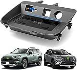 Chargeur sans Fil Voiture pour Toyota RAV4 2020 2021 Panneau la Console Centrale, 15W Support de...