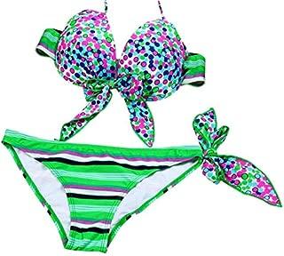 BEESCLOVER Underwire Bikinis Strips Bandage Women Swimwear Swimsuit Push Up Bikini Set Beach Bathing Suits Swim Wear