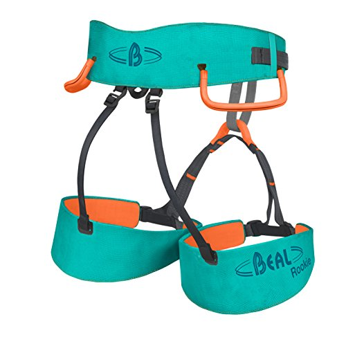 Beal Rookie Klettergurt Unisex Kinder, türkis/orange