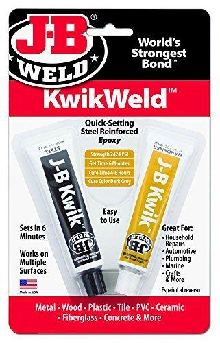 J-B Weld Company 8276 2 oz. KwikWeld Quick Setting Steel Reinforced Epoxy Twin Tube, Dark Grey by J-B Weld