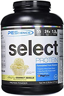 PEScience Select Protein Powder, Gourmet Vanilla, 55 Serving, Whey and Casein Blend