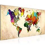 Wandbilder Weltkarte 1 Teilig Modern Vlies Leinwand