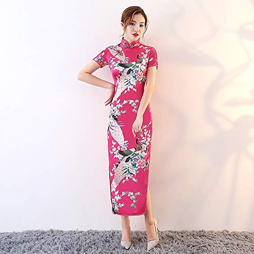 TIKEHAN Cosplay Dress/Party Costume/Pencil Dress Festival De Las Mujeres/Holiday Halloween Costumes Azul/Rosado/Rojo Floral/Botanical Uniforms & Cheongsams/Chinese Style