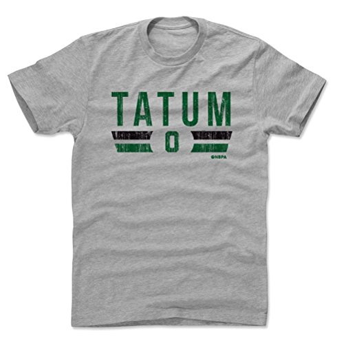 500 LEVEL Jayson Tatum Shirt (Cotton, Large, Heather Gray) - Boston Men's Apparel - Jayson Tatum Boston Font G