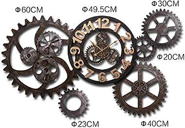 Horloge Murale Engrenage Vinyle, Horloge Murale Romaine De DéCoration Industrielle De Vitesse Du Vent, Conception De L'Ho