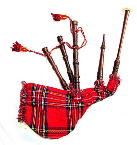 Scottish Junior - Bolsa de Juguete para niños, diseño de tartán y Tubos de Palisandro