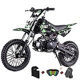 X-PRO 110cc Dirt Bike Pit Bike Kids Dirt Pitbike 110 Dirt Pit Bike,Green