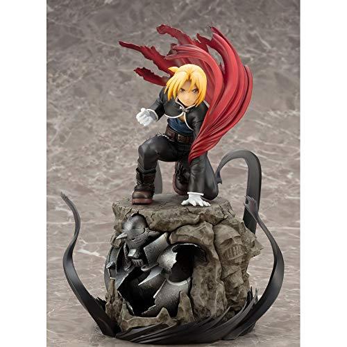 STKCST Anime Doll Fullmetal Alchemist Alphonse Elric Edward Elric Figura Versión Escultura Decoración Estatua Muñeca Modelo Juguete Figura 22cm Altura