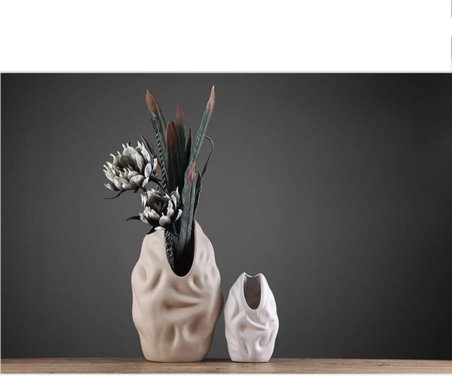 TTW Vase en céramique Mode Vase décoration Salon Moderne Meuble TV Fleur Mat céramique Grand Vase (Couleur   Image Colour, Taille   51  30CM)