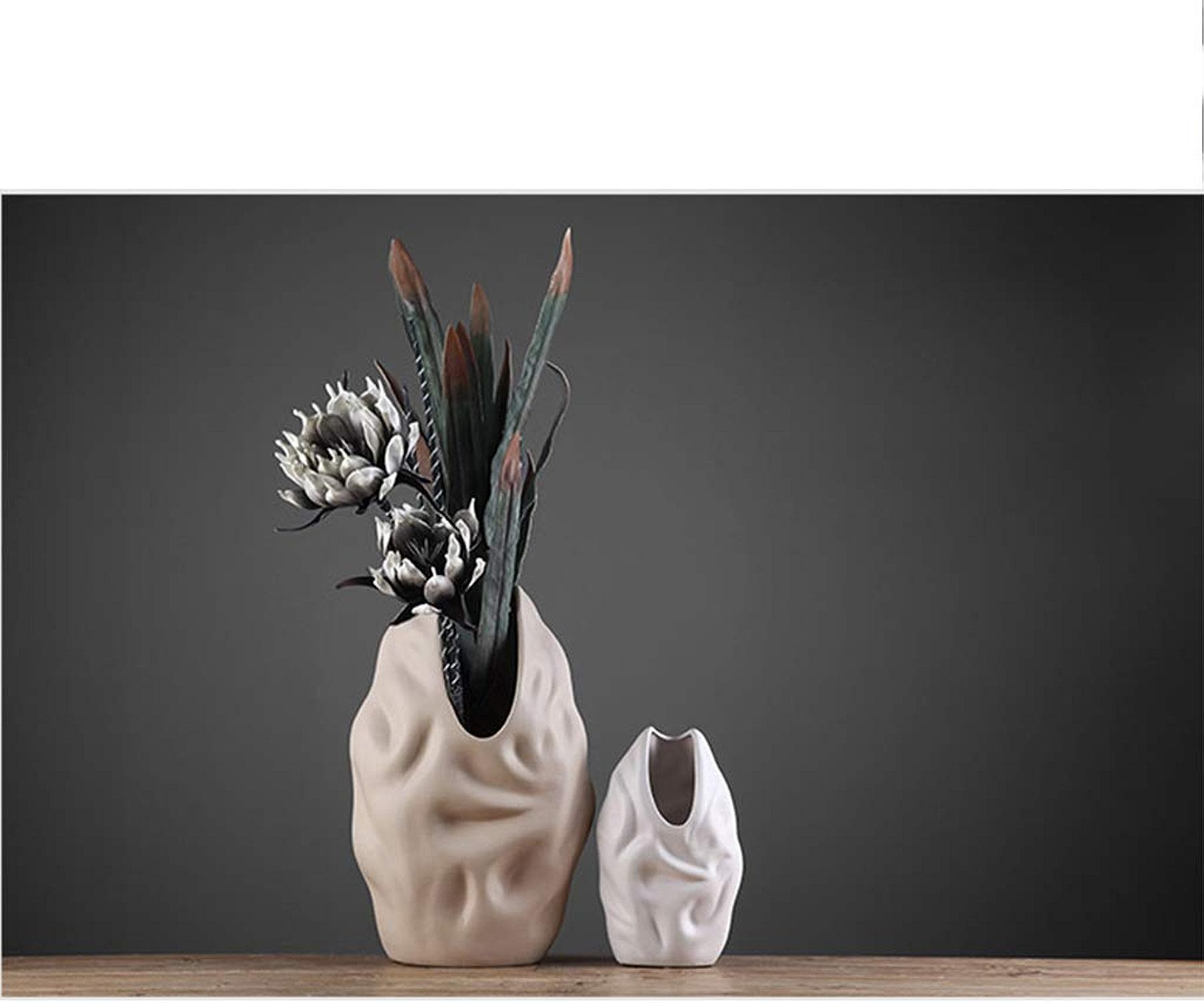Vase en céramique mode vase décoration salon moderne meuble tv fleur mat céramique grand vase (Couleur   IMAGE COLOUR, Taille   51  30CM)