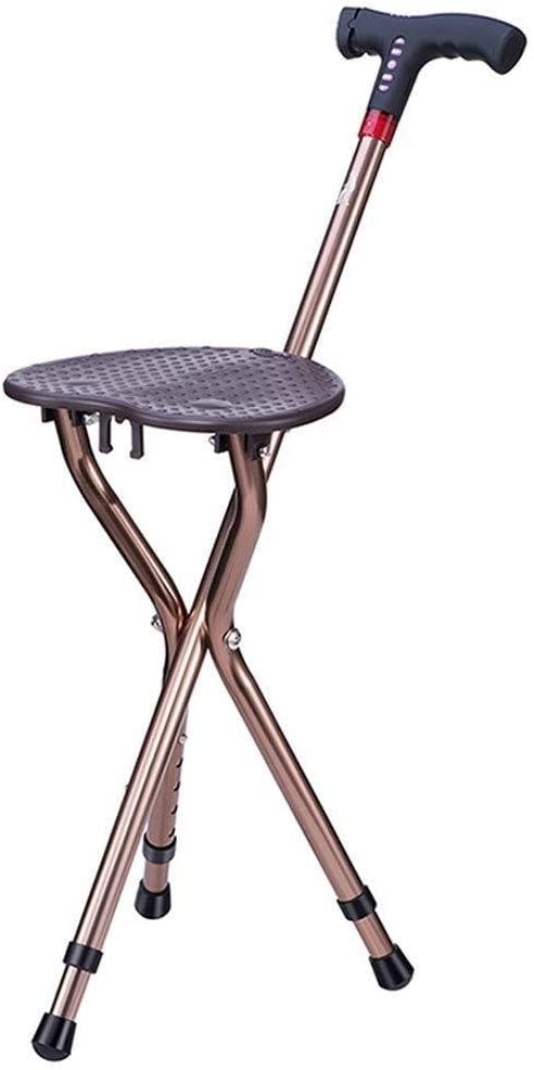Old Man's Walking half Stick Stool Non-Slip Folding Chair Three- Cane Factory outlet