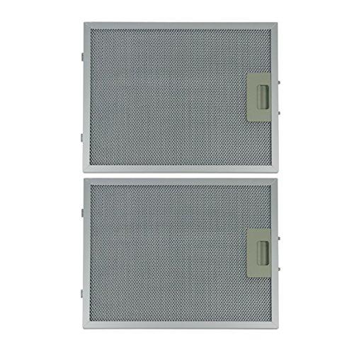 Metallgitterfilter Fettfilter 2 Stück rechteckig Metall 320x260mm Dunstabzugshaube Original Respekta MIZ 2009 mit einseitiger Entriegelung für Hauben CH3300 Ch22099 CH0190 CH22077 Spülmaschinenfest