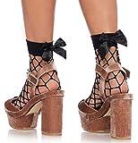 Calcetines de red con lazada negro mujer Talla única Leg Avenue