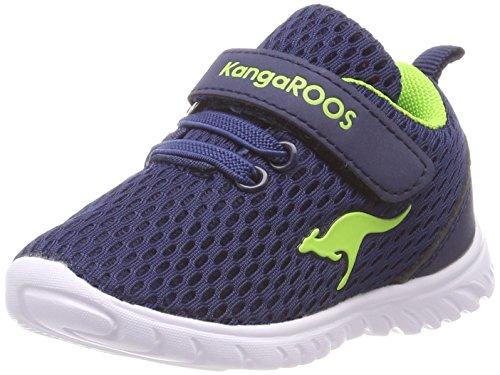 KangaROOS Unisex Baby Inlite 5003 Sneaker, Blau (Navy/Lime 4800), 22 EU