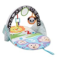 With this Fisher-Price toy, there are 2 ways to play; place arch up for lay and play, then fold it down for tummy time. Ideal baby toy for children 0-6 months old This Baby play mat with reversible arch features a different design on each side: Hig...