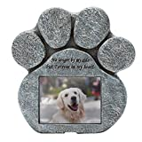 EXPAWLORER Pet Paw Memorial Stone with a Photo Frame and Sympathy...