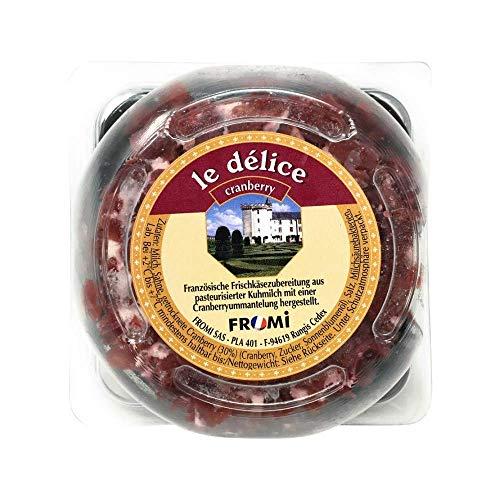 Käse Brillat Savarin Cranberry, im Stück