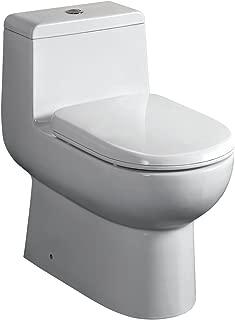 Fresca Bath FTL2351 Antila 1 Piece Dual Flush Toilet with Soft Close Seat