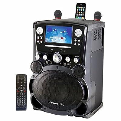 "Karaoke USA GP975 Professional DVD/CD+g/Mp3+g Karaoke System with 7"" Color TFT Display & Recording"