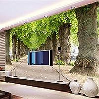 3D自然風景森の道写真壁画カスタマイズサイズ壁紙壁テレビソファ背景壁の装飾-200x140cm