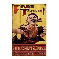 無料テキーラティンサイン壁鉄絵レトロプラークヴィンテージメタルシート装飾ポスターおかしいポスター吊り工芸用バーガレージカフェホーム