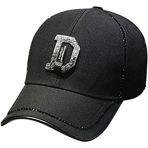 Gorra de Béisbol con Hebilla de Ajuste de Metal Corta Ajuste Estructurado para Cola de Caballo Tenis para Damas Pelota de Golf Sombrero Estilo Clásico Deportes Casual Sombrero,Black