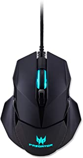Acer Predator Cestus 500 RGB Gaming Mouse – Dual Omron switches 70M Click Lifetime, Customizable ambidextrous and Ergonomic Design, On Board Memory and programmable Buttons
