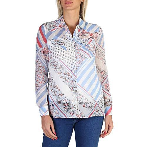 Tommy Hilfiger Camisa WW0WW18336 Mujer Color: Blanco Talla: 6